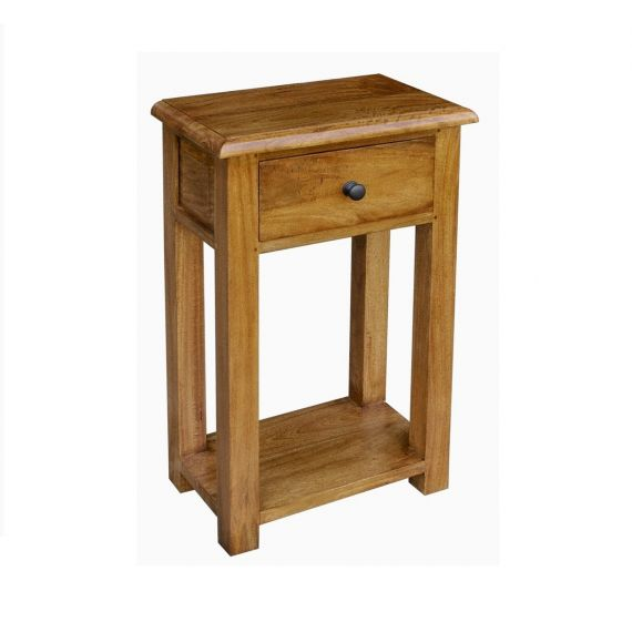 Asian Solid Mango Wood 1 Drawer Console Table