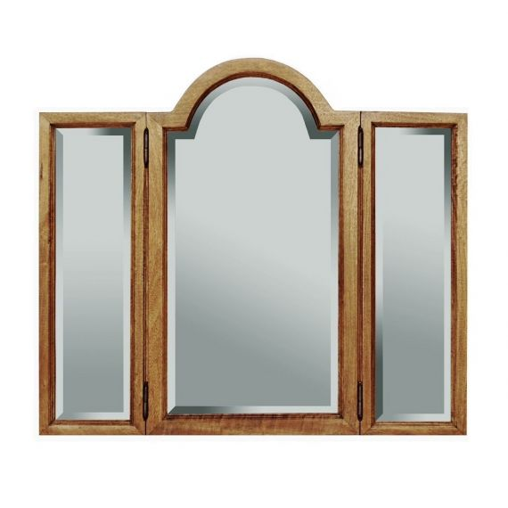 Asian Solid Mango Wood Dressing Table Mirror
