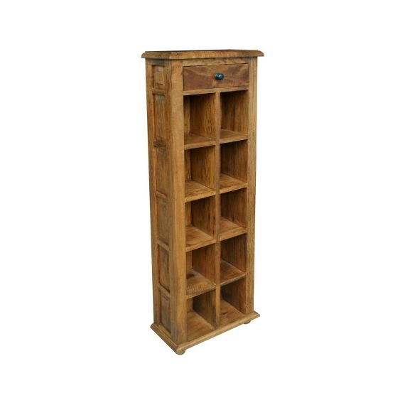 Asian Solid Mango Wood DVD Unit