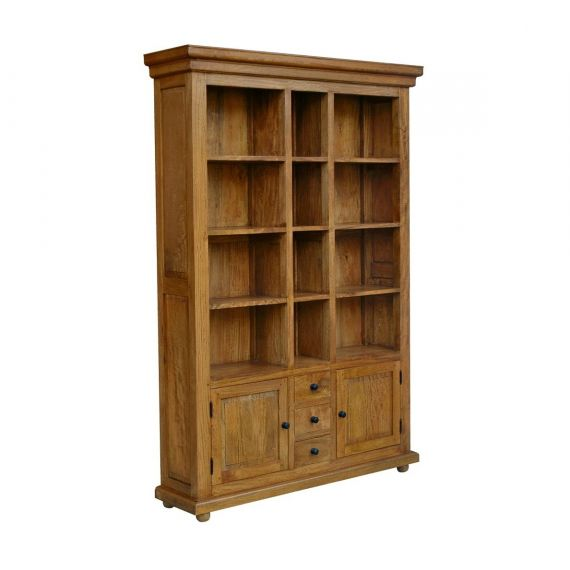 Asian Solid Mango Wood Large Bookcase with Storage