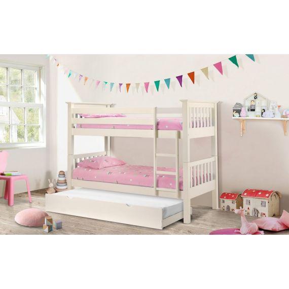 Aspen Stone White Bunk Bed