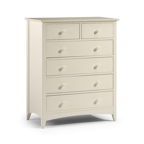 Aspen White 6 Drawer Chest