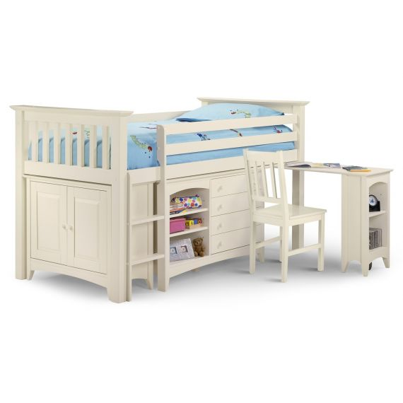 Aspen White Cabin Bed with Storage