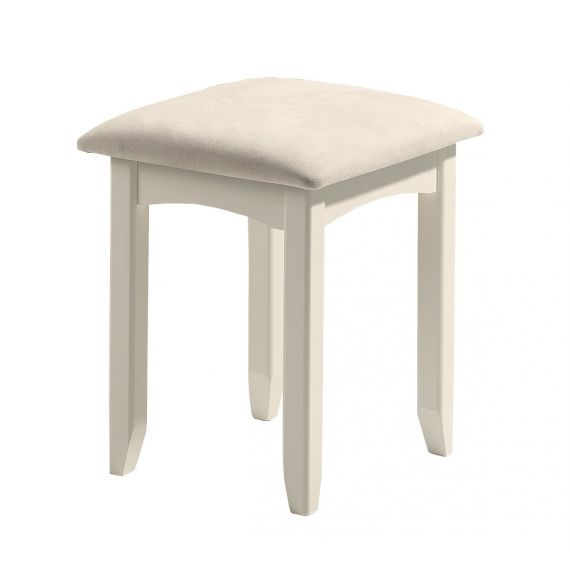 Aspen White Dressing Table Stool