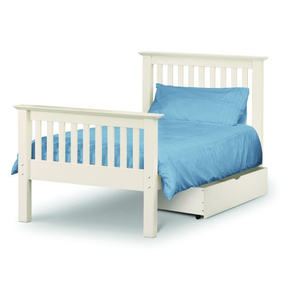 Aspen White High Foot End 3' Single Bed