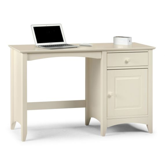 Aspen White Single Pedestal Dressing Table