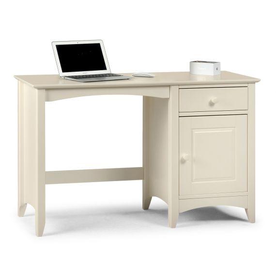 Aspen White Single Pedestal Dressing Table