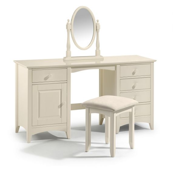 Aspen White Twin Pedestal Dressing Table