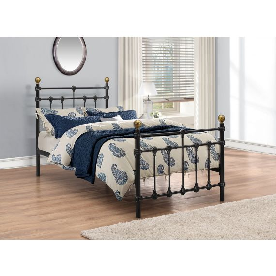 Atlas Metal Bed - Black