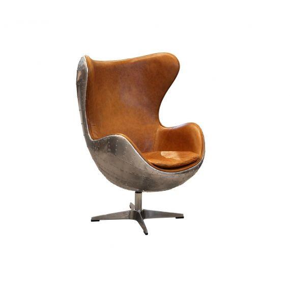 Aviator Aluminium keeler Wing Swivel Desk Chair