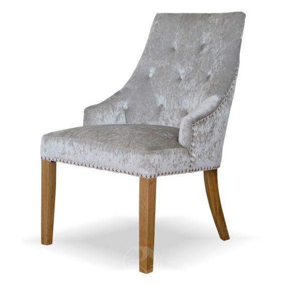 Bergen Silver Crushed Velvet Chair