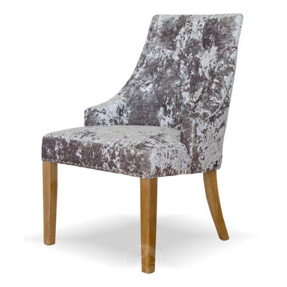 Bergen Silver Deep Crushed Velvet Chair