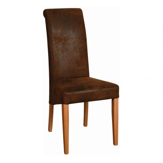 Bison Faux Fabric Dining Chair - Light Oak Legs