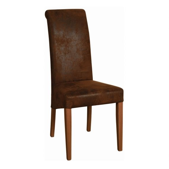 Bison Faux Fabric Dining Chair - Rustic Oak Legs