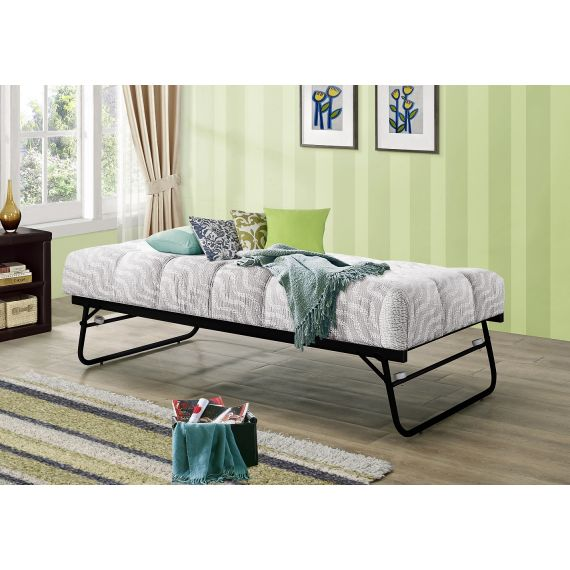 Black Metal Trundle Bed