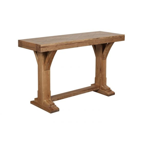 Bloomsbury Oak Console Table with Trestle Base