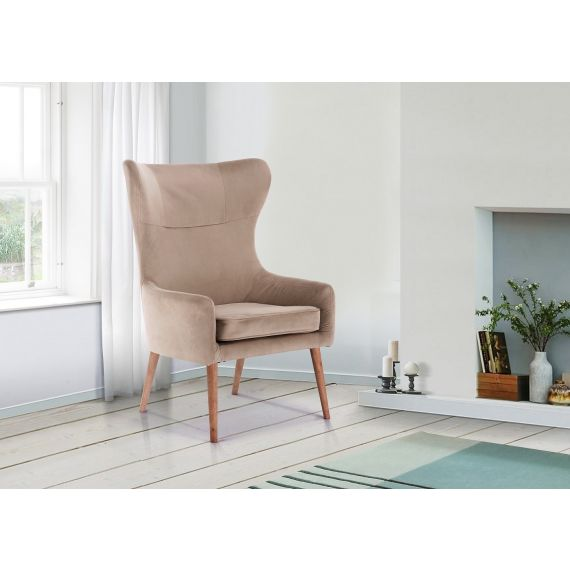 Bow Velvet Armchair