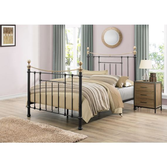 Bronte Metal Bed - Black