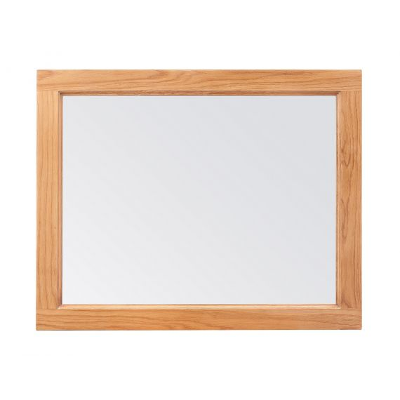 Buttermere Light Oak 75cm x 60cm Wall Mirror