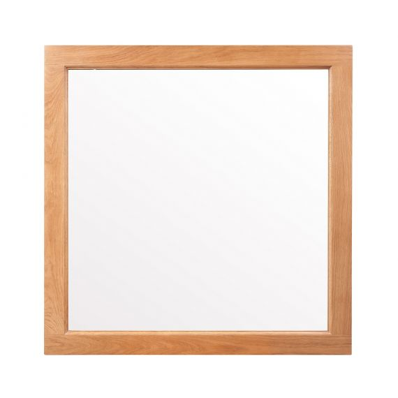 Buttermere Light Oak 90cm x 90cm Wall Mirror