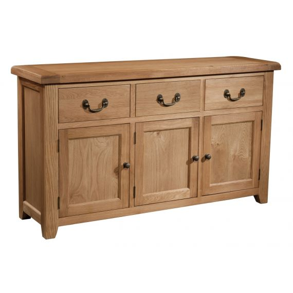 Buttermere Light Oak Large 3 Door Sideboard