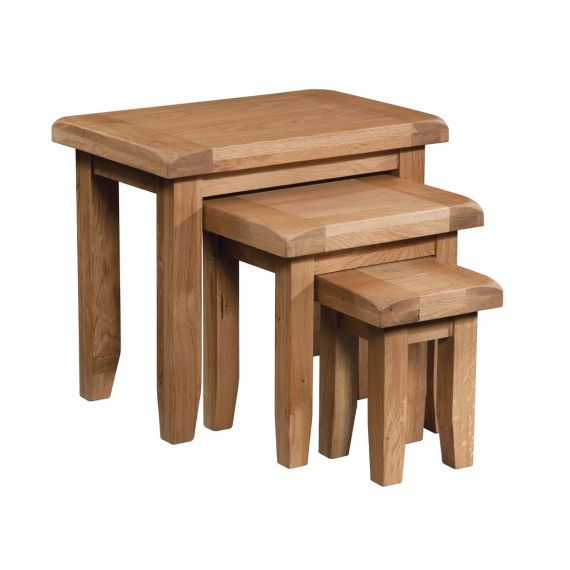 Buttermere Light Oak Nest of 3 Tables