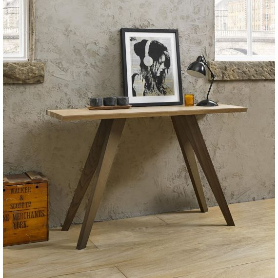 Cadell Aged & Weathered Oak Console Table - Cadell Furniture