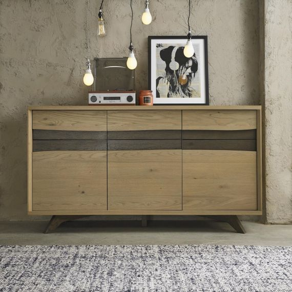 Cadell Aged & Weathered Oak Large Sideboard - Cadell Furniture