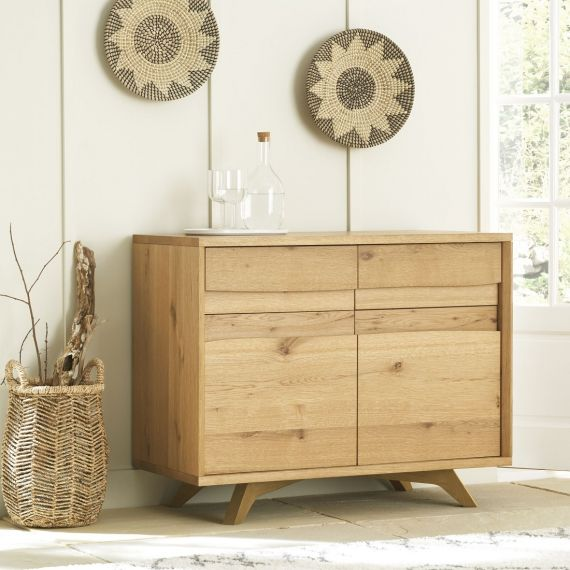 Cadell Rustic Oak Small Sideboard - Cadell Furniture