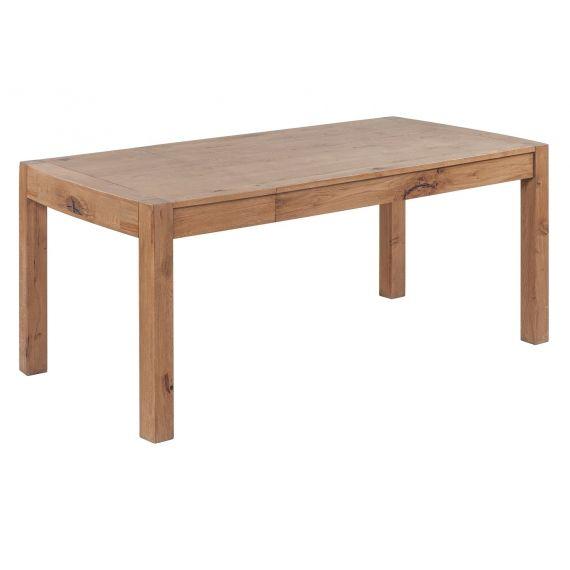 Como Rustic Oak 140-180cm End Extending Dining Table