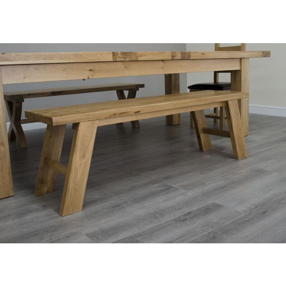 Coniston Rustic Solid Oak Dining Bench