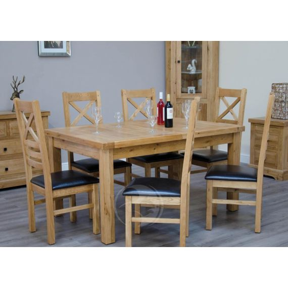 Coniston Rustic Solid Oak Extending Dining Table