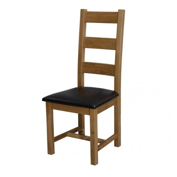 Coniston Rustic Solid Oak Ladder Back Dining Chair