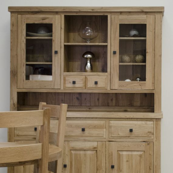 Coniston Rustic Solid Oak Large Welsh Dresser