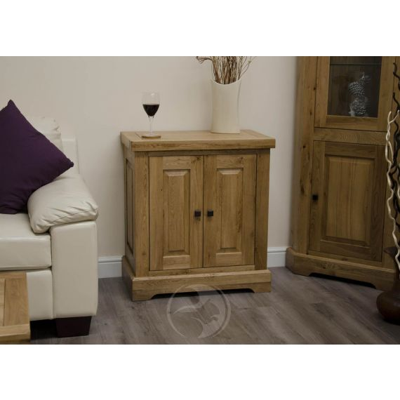 Coniston Rustic Solid Oak Printer / Occasional Cabinet