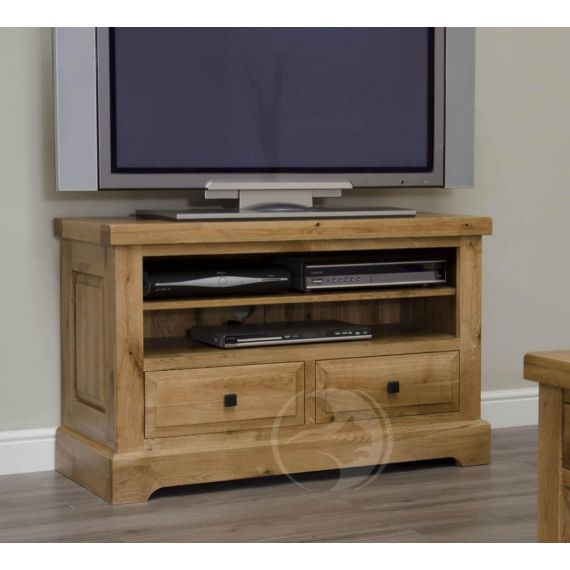 Coniston Rustic Solid Oak TV Unit