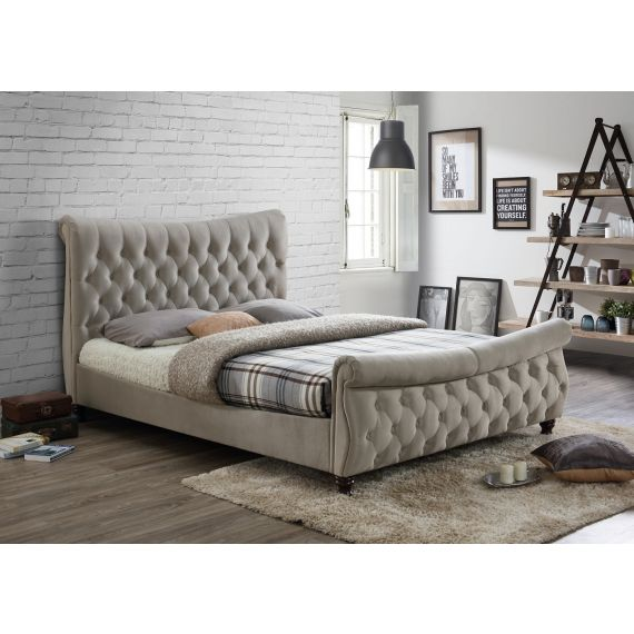 Copenhagen Warm Stone Fabric Bed
