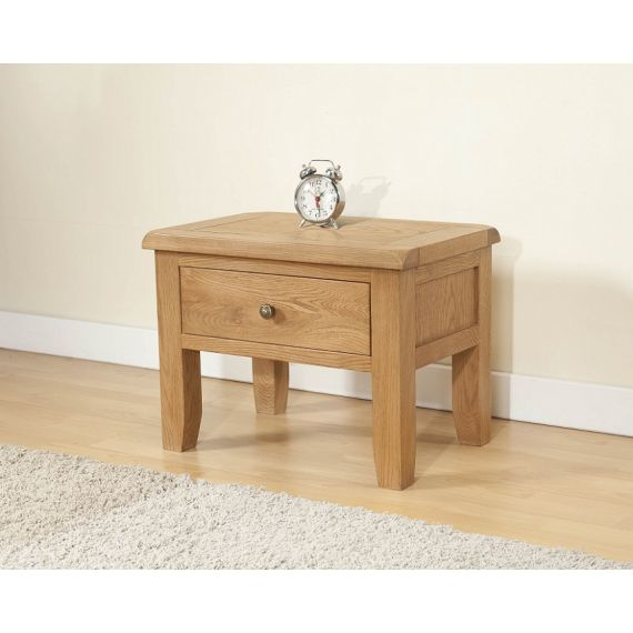 Cotswold Rustic Light Oak Side Table