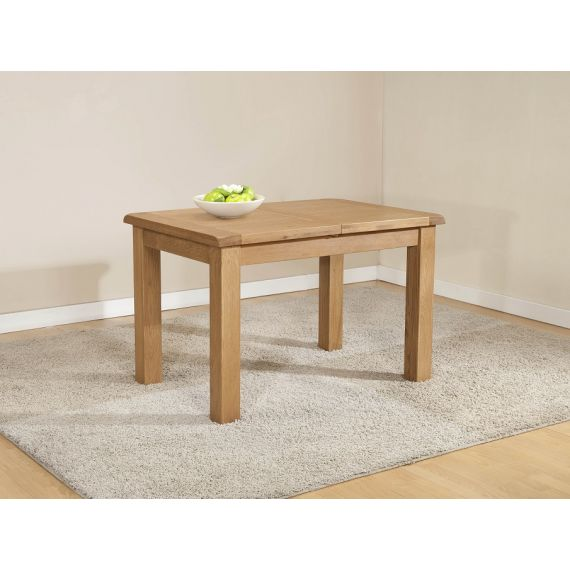 Cotswold Rustic Light Oak Small Extending Dining Table