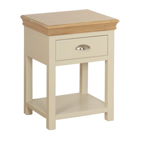 Country Oak and Painted 1 Drawer Bedside Table