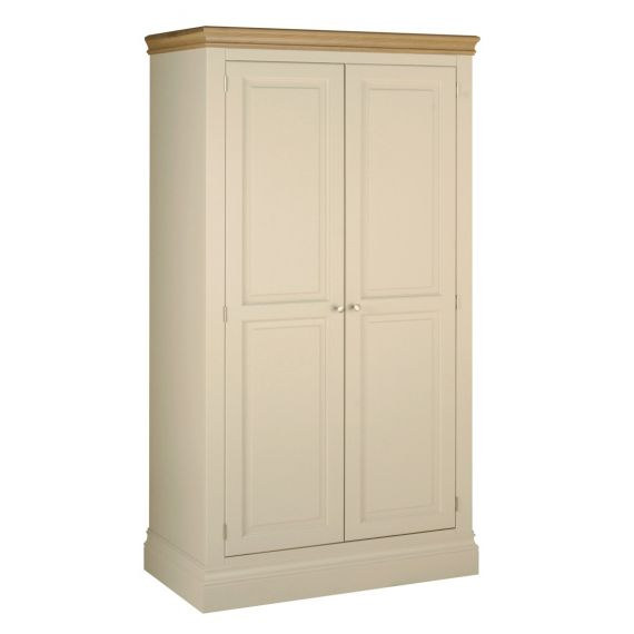 Country Oak and Painted Double Wardrobe