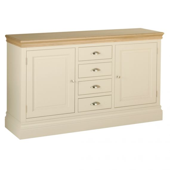 Country Oak and Painted Large 2 Door Sideboard