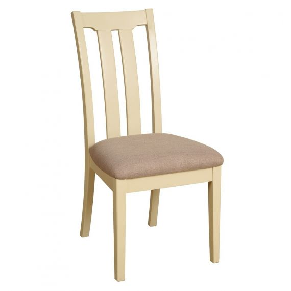 Country Oak and Painted Slat Back Dining Chair