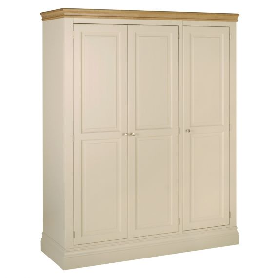 Country Oak and Painted Triple Wardrobe