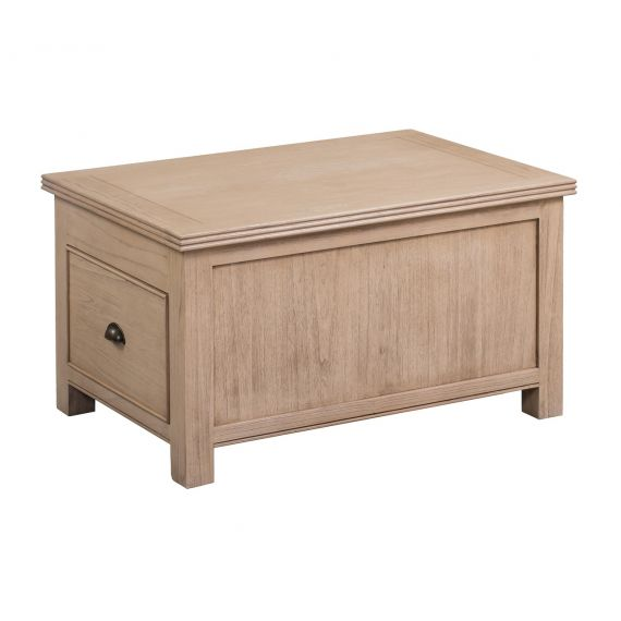 Crummock Cedar Wood Coffee Table with Lid and Drawers