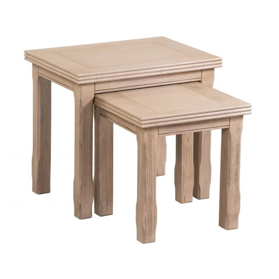 Crummock Cedar Wood Nest of Tables_Set of 2