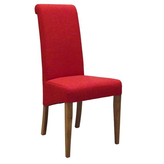 Dark Orange Fabric Dining Chair