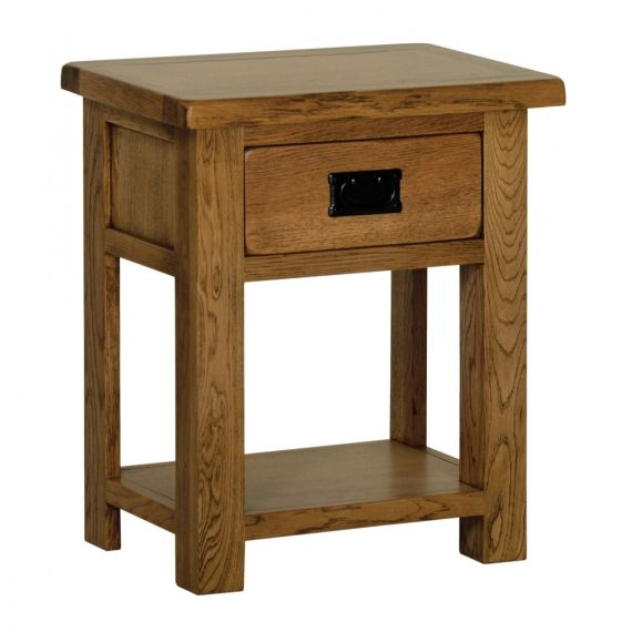 Edinburgh Rustic Oak 1 Drawer Bedside Table