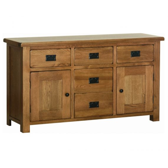 Edinburgh Rustic Oak 2 Door Large Sideboard