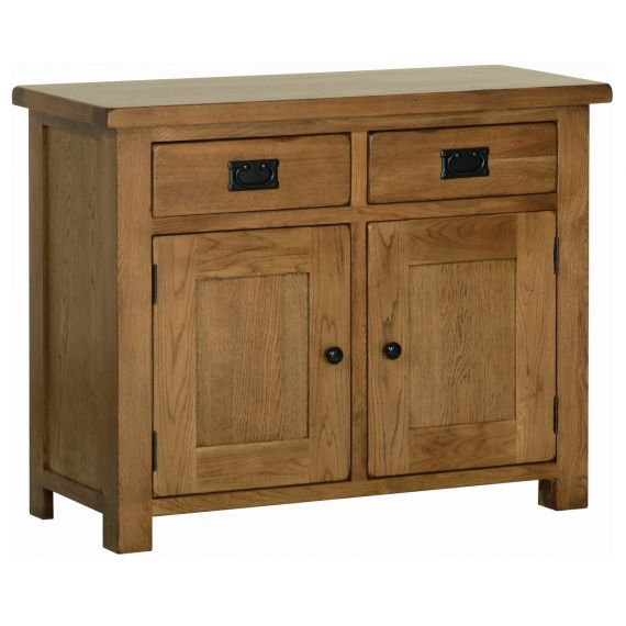 Edinburgh Rustic Oak 2 Door Sideboard